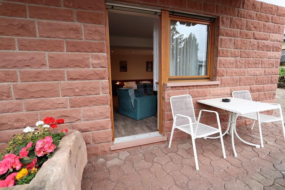 """Terrasse der Ferienwohnung """"Große Bienenkiste"""""""