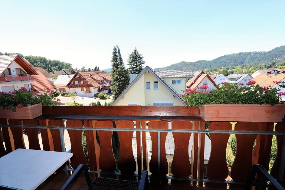 Balkon der Ferienwohnung Städtleblick