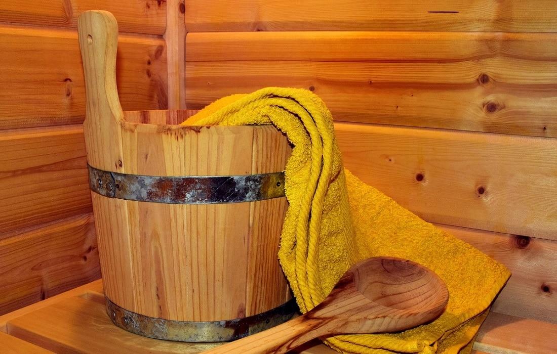 Sauna Hotel Klosterbräustuben mit Aufgusseimer