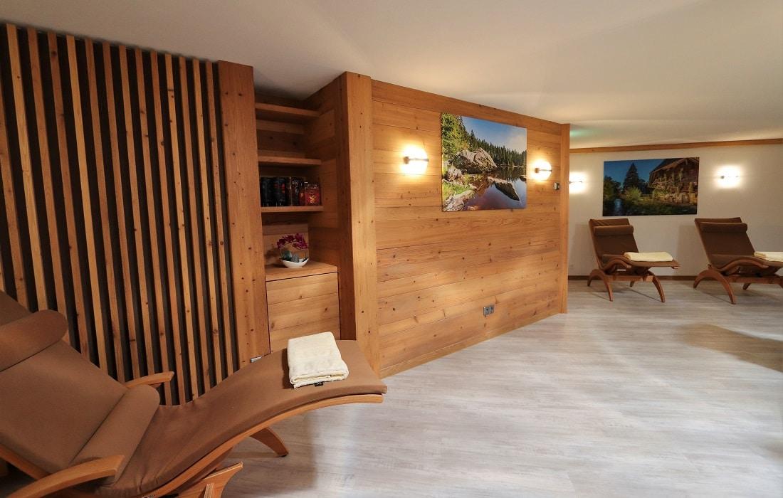 Schöner Ruheraum in der Saunalandschaft des Hotel