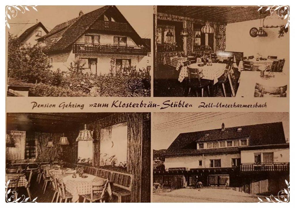 Postkarte Pension Klosterbräustube 1975
