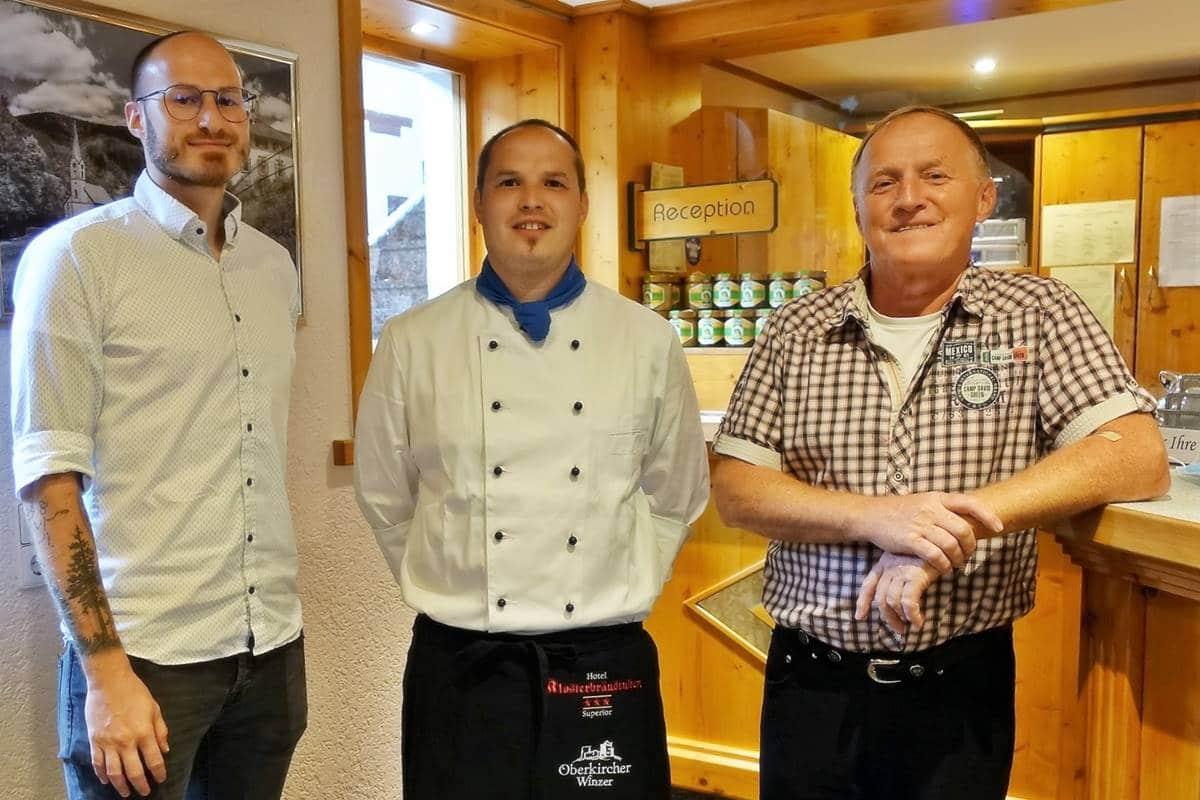 Die Hotelgeschäftsführer. Von links: Philipp Lehmann, Sven Lehmann, Paul Lehmann