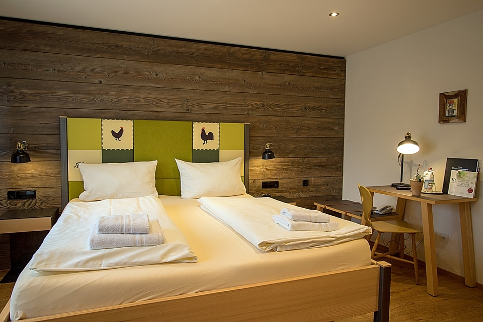 Ferienwohnung Kleine Hahn und Henne Schlafzimmer