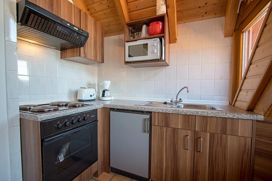 Küchenzeile der Ferienwohnung Städtleblick