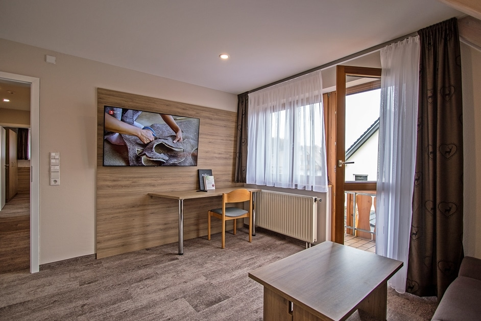 Ferienwohnung Klosterblick Wohnzimmer